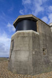 World War Two Searchlight Emplacement. Searchlight emplacement from the second world war, with modern screen over emplacement Stock Image