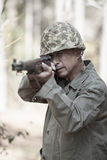World war two soldier with rifle Stock Images