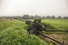 World war two soviet military cannon Stock Photography