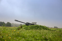 World war two soviet military cannon Royalty Free Stock Images
