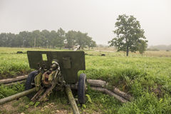 World war two soviet military cannon Royalty Free Stock Photography