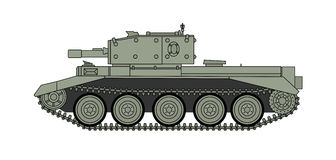 World war two tank. Side view. British armored vehicle. Vector scalable graphics Stock Images