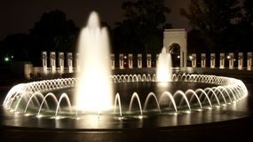 World War Two (WWII) Memorial at night Royalty Free Stock Photo