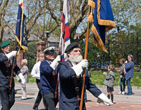 World War 2 veterans marching in Liverpool, UK Royalty Free Stock Images
