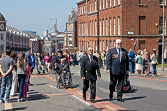 World War 2 veterans marching in Liverpool, UK Royalty Free Stock Photo