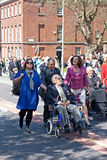 World War 2 veterans marching in Liverpool, UK Royalty Free Stock Photography