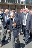 World War 2 veterans marching in Liverpool, UK Stock Photography