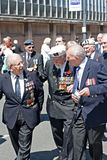 World War 2 veterans marching in Liverpool, UK Stock Images
