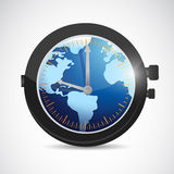 World and watch illustration design Stock Photos