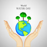 World water day background. Illustration of elements for World water day Stock Photography