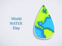 World water day background. Illustration of elements for World water day Royalty Free Stock Image