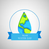 World water day background. Illustration of elements for World water day Royalty Free Stock Images
