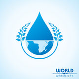 World Water day greeting design Royalty Free Stock Images
