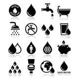 World Water Day icons - ecology, green concept Royalty Free Stock Images