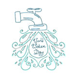 World water day illustration. Vector water drops. Mother earth design. Royalty Free Stock Images