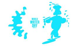 World Water Day - vector abstract water drop concept. Save the water. Ecology concept background - Vector stock illustration