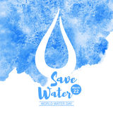 World water day watercolor vector illustration royalty free illustration