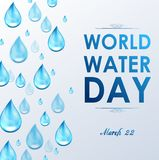 World Water Day in white background Stock Images
