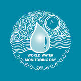 World water monitoring day Royalty Free Stock Images