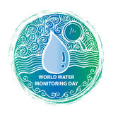 World water monitoring day Stock Images