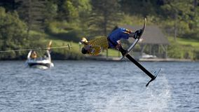 World Water Ski Show Tournament - Huntsville, Ontario, Canada on September 8, 2018 royalty free stock photo