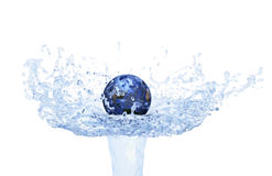 World on Water Splash Stock Photos