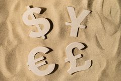 World Wealth On the Sand stock photography
