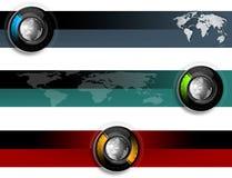 World web banner collection Stock Photos
