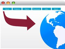 World web page design Stock Photos