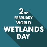World wetlands day cartoon design illustration, campaign asset for use on social media Stock Photos