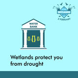 World wetlands day cartoon design illustration, campaign asset for use on social media Royalty Free Stock Photo