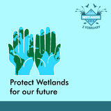 World wetlands day cartoon design illustration, campaign asset for use on social media Royalty Free Stock Photography