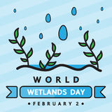 World wetlands day Royalty Free Stock Images
