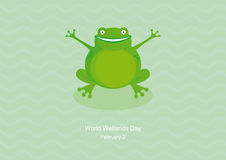 World Wetlands Day vector Stock Image