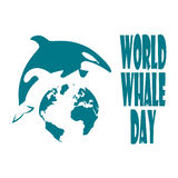 World Whale Day. Royalty Free Stock Image
