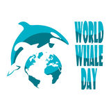 World Whale Day. Royalty Free Stock Photography