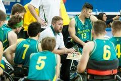 World Wheelchair Basketball Championship. June 09, 2017 - Toronto, Ontario, Canada – Head Coach Luke Brennan during the basketball game - Australia vs stock images