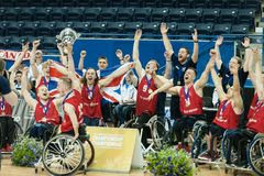 World Wheelchair Basketball Championship medal ceremony Royalty Free Stock Photography