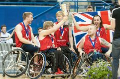 World Wheelchair Basketball Championship medal ceremony Stock Photo