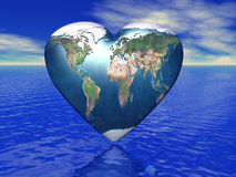 World in which lives love Royalty Free Stock Images