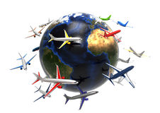 World wide Air Transport concept Stock Images