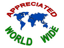 World wide appreciation Stock Photos