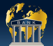 World wide Bank. High resolution jpeg included. All elements, textures, etc. are individual objects.No flattened transparencies Stock Image