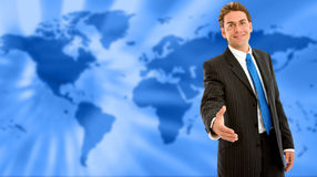 World wide business man Stock Image