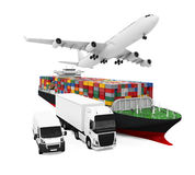 World Wide Cargo Transport Illustration Stock Photography
