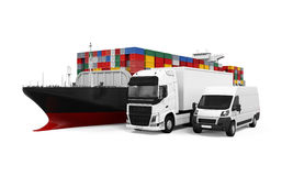 World Wide Cargo Transport Illustration Royalty Free Stock Images