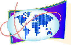 World Wide connection. Background or conceptional image stock illustration