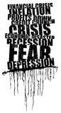 World wide crisis headline Stock Images