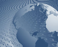 World wide data transfer. Illustration of world wide data transfer and internet Stock Photos