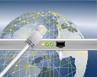 World wide data transfer. Illustration symbolic of data transfer and internet connection Stock Images